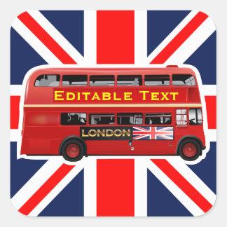 Londres temático adesivo quadrado