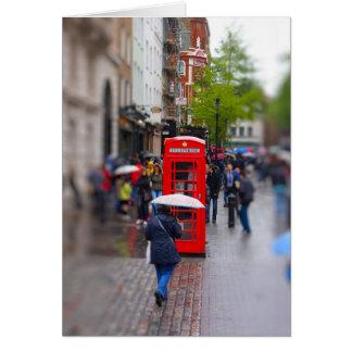 Londres típica - não esqueça o cartão do