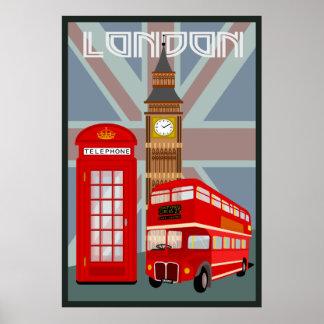 Londres. Trabalho original por BooPooBeeDoo Pôster