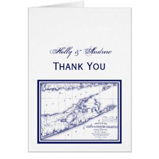 Long Island o mapa de Hamptons Cartão De Nota