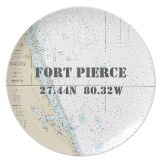 Longitude náutica Fort Pierce da latitude, barco Prato