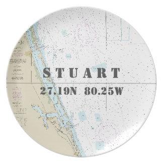 Longitude náutica Stuart da latitude, barco de FL Prato