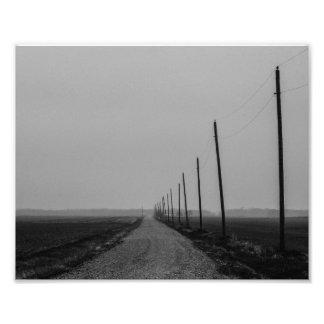 Longo caminho ao nenhum onde impressão de foto