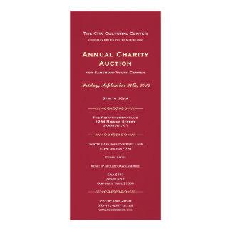 Longo incorporado vermelho do evento de gala do lo convites