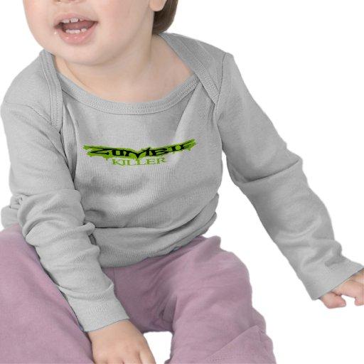 Longo-luva do Zombi-assassino do bebê Camisetas