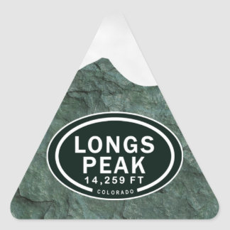 Longs a montanha rochosa do FT Colorado do pico Adesivo Triangular