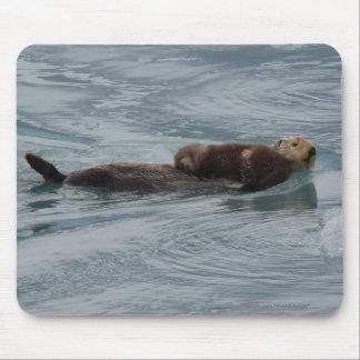 Lontra de mar mouse pad