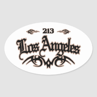 Los Angeles 213 Adesivo Oval
