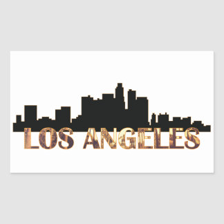 Los Angeles Adesivo Retangular