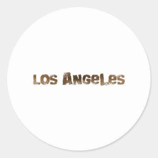 Los Angeles Adesivos Em Formato Redondos