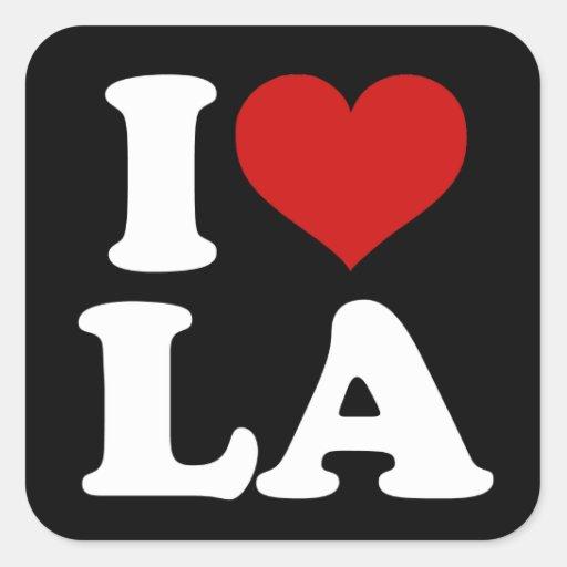 Los Angeles Adesivo Em Forma Quadrada