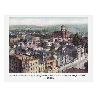 Los Angeles CA, vista do cartão velho do tribunal