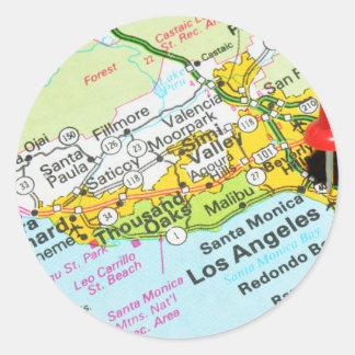 Los Angeles, Califórnia Adesivo Redondo
