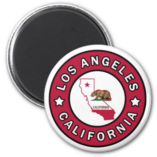 Los Angeles Califórnia Ímã Redondo 5.08cm