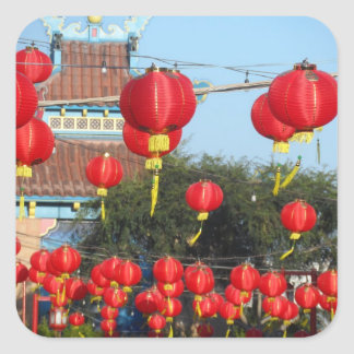 Los Angeles Chinatown Adesivo Quadrado