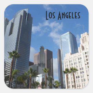 Los Angeles do centro Adesivo Quadrado