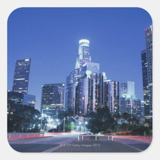 Los Angeles do centro Adesivos Quadrados