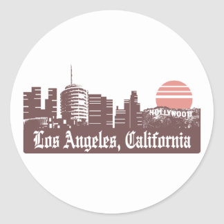 Los Angeles Linesky Adesivo Em Formato Redondo