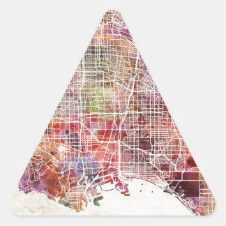 Los Angeles map Adesivo Triangular