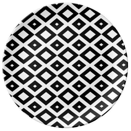Losango Black Prato Porcelana