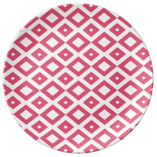Losango Pink Prato Porcelana