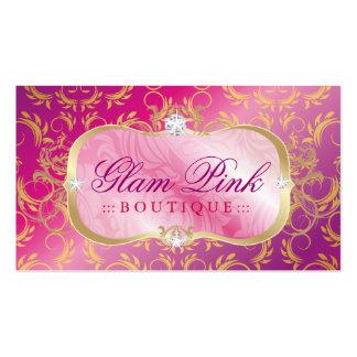 Lota cor-de-rosa divina dourada da bandeja 311 cor modelos cartões de visita
