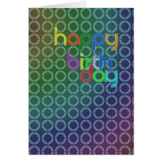 Lotes do cartão de aniversário dos círculos