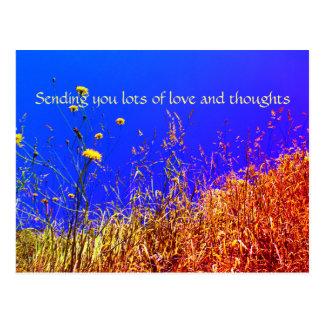 Lotes do cartão do amor e dos pensamentos