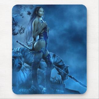 Lotus azul mousepad
