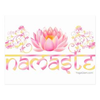Lótus de Namaste novos Cartão Postal