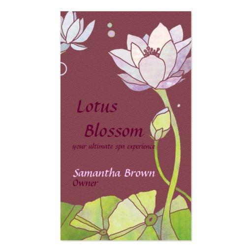 Lotus elegante: Cartões de visitas do salão de bel