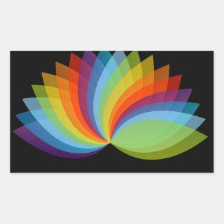 Lotus em cores diferentes adesivo retangular