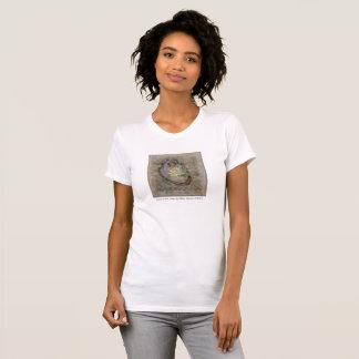 Lotus na camisa do coração T