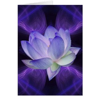 Lotus roxo e geometria sagrado cartão comemorativo