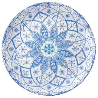 Louça A arte da mandala modela o desenho floral da flor