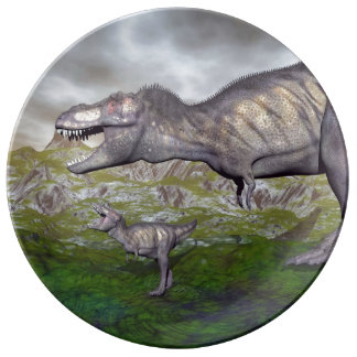 Louça A mãe do dinossauro do rex do tiranossauro e o