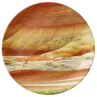 Louça Antílope de Pronghorn nas colinas pintadas
