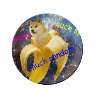 Louça banana   - doge - shibe - espaço - uau doge