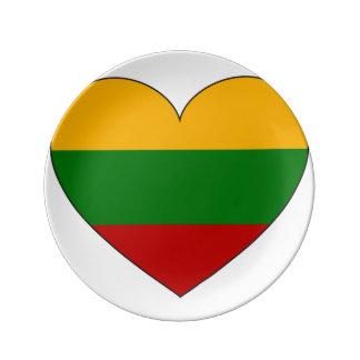 Louça Bandeira de Lithuania simples