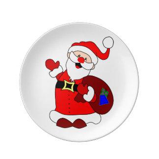 Louça Clipart do saco de Papai Noel e de presente