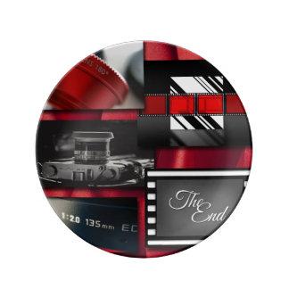 Louça Colagem preta & branca vermelha do filme