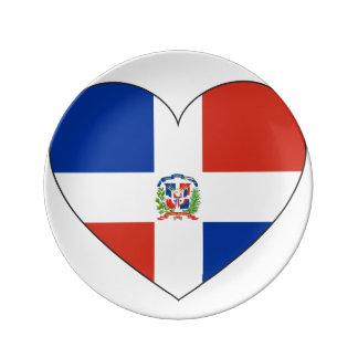 Louça Coração da bandeira da República Dominicana