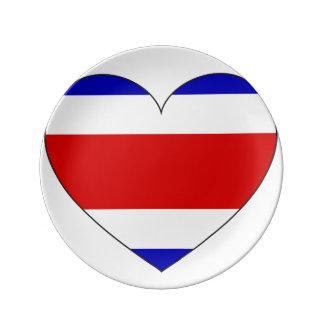Louça Coração da bandeira de Costa Rica