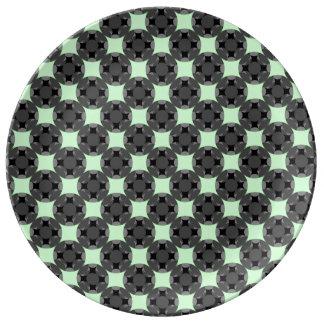 Louça Cruz de quatro estrelas contínua do círculo por