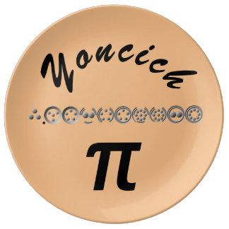 Louça De Jantar 10 dígito centesimal Pi por Kenneth Yoncich