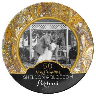 Louça De Jantar 50th Lembrança da foto do aniversário de casamento