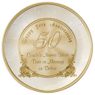Louça De Jantar 50th presentes customizáveis do aniversário de