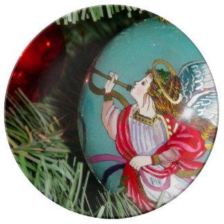 Louça De Jantar Anjo do Natal - arte do Natal - decorações do anjo