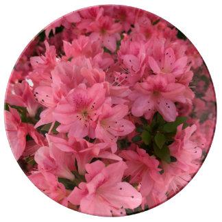 Louça De Jantar Arbusto de florescência cor-de-rosa brilhante na