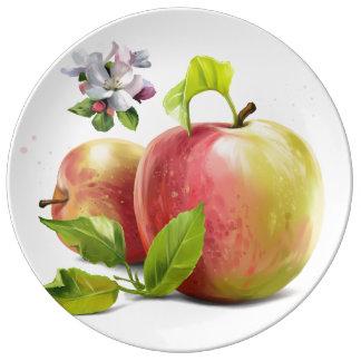 Louça De Jantar As maçãs, florescem e espirram